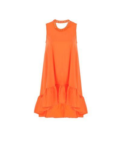 Volant Kleid mit Kette