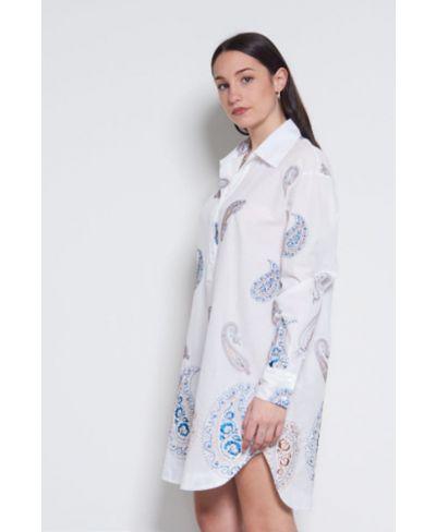 Long Bluse bestickt