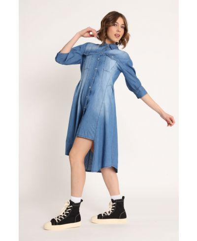 Jeanskleid Stufensaum-Denim-Jeans-S-M