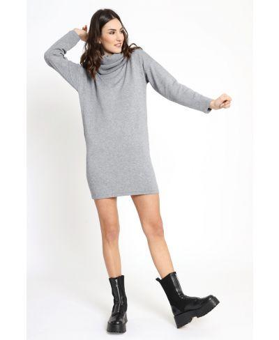 Strick Kleid mit Kragen