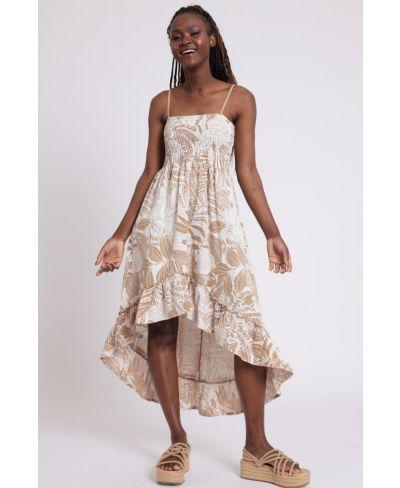 Kleid Elastico-Beige-S-M