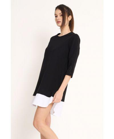 Sweat Kleid Pop-Nero-Schwarz-S-M