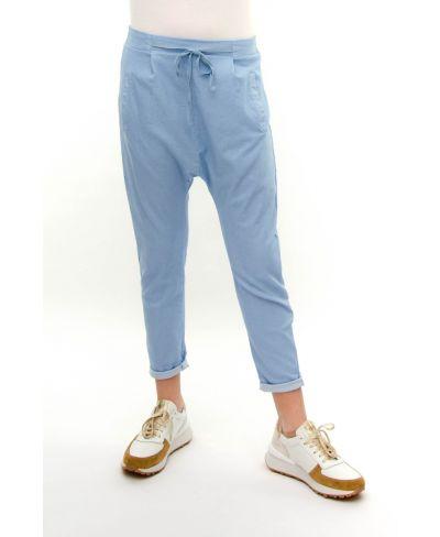 Pluderhose Jeans Optik-Denim-Jeans-XS