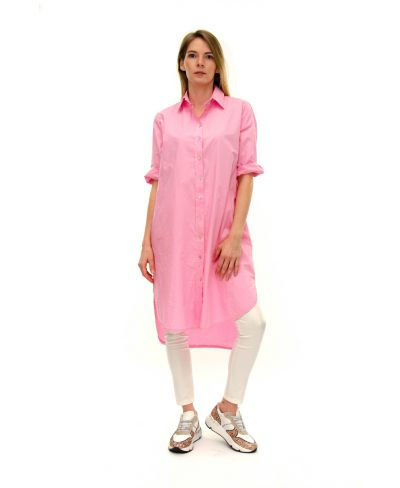 Kleid Bluse-Fuchsia-Pink-S-M