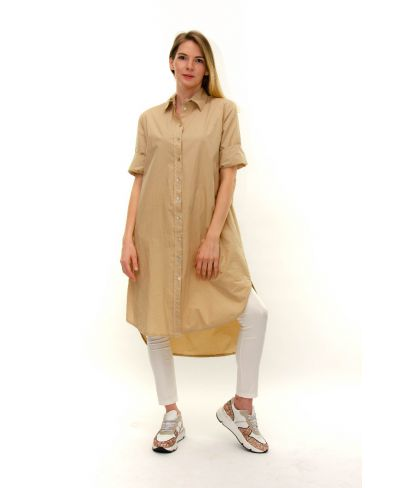 Kleid Bluse-Bianco-Weiss-S-M