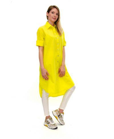 Kleid Bluse-Giallo-Gelb-S-M