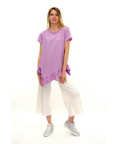 T-Shirt Punte-Viola-Taglia Unica