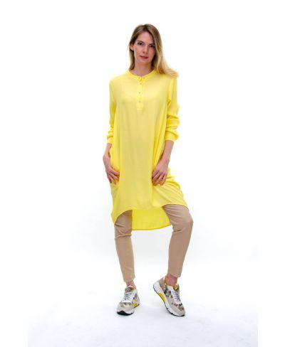 Blusenkleid Spring-Giallo-Gelb-S-M