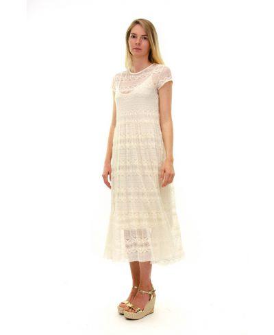 Kleid Pizzo-Bianco-Weiss-S-M