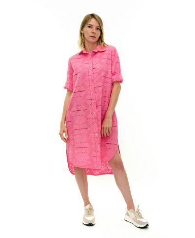 Long Bluse Sangallo-Fuchsia-Pink-Taglia Unica