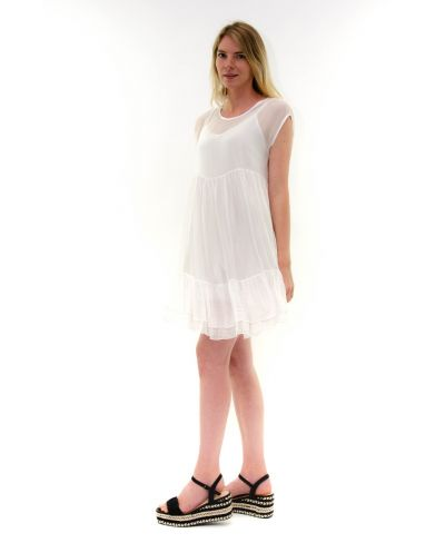 Kleid Summertime-Bianco-Weiss-S