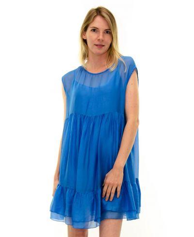 Kleid Summertime-Azzurro-S