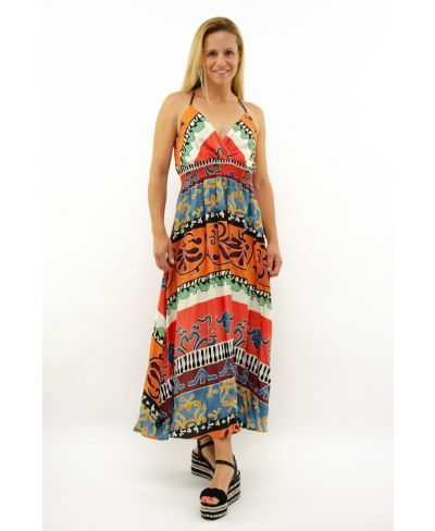 Kleid Arancia-Fantasia-Gemustert-S-M