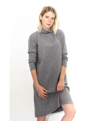 Langes Strick-Kleid