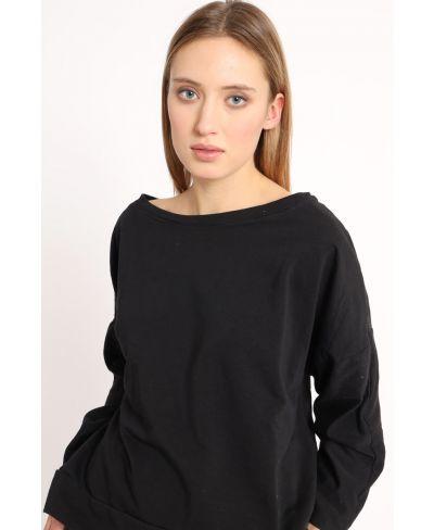 Sweatshirt Smile-Nero-Schwarz-Taglia Unica