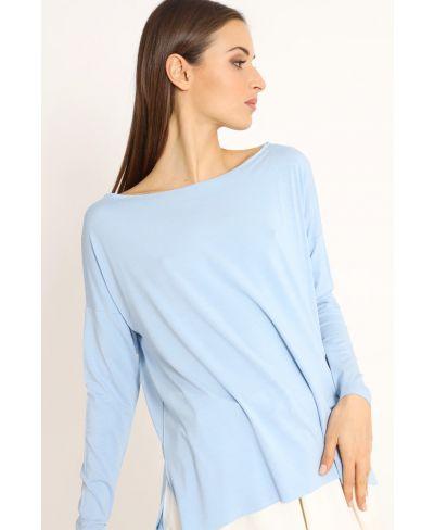 Shirt Kimono-Celeste-Hellblau-Taglia Unica