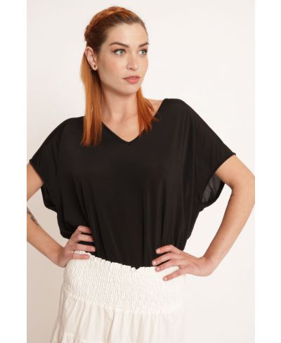 Shirt Viscosa-Nero-Schwarz-Taglia Unica