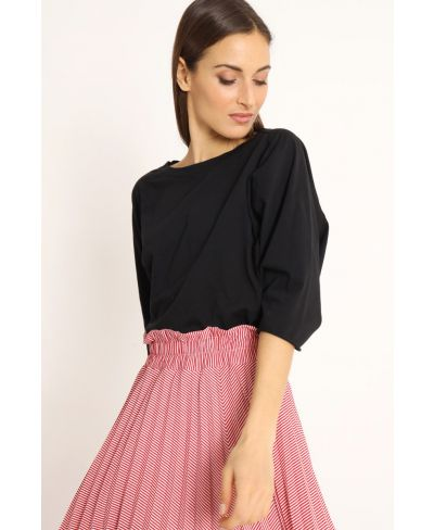 Shirt Raglan Over-Nero-Schwarz-Taglia Unica