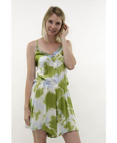 Batik Shorts Overall-Verde-Grün-S