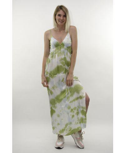 Träger Kleid Batik-Verde-Grün-S
