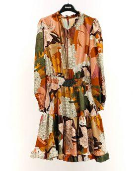 Kleid Volant Gummibund Fiori