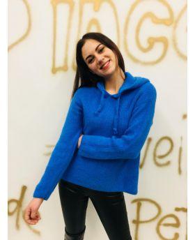Pullover mit Kapuze-Azzurro-Taglia Unica