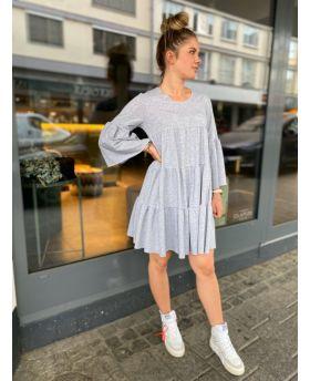 Sweat Kleid Volant-Grün-Taglia Unica