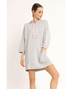 Sweat Kleid Kapuze