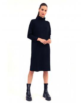 Strick Kleid  Kimono-Antracite-Dunkelgrau-Taglia Unica