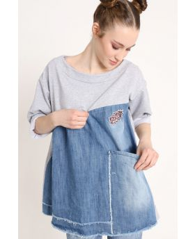 Sweat Jeansshirt