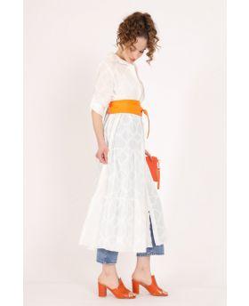 Langes Kleid Sangallo