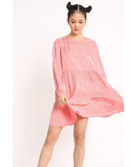 Kleid Pois-Corallo-Koralle-S-M