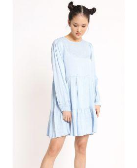 Kleid Pois-Azzurro-S-M
