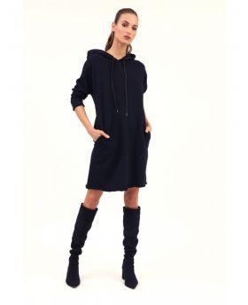Sweat - Kleid mit Kapuze
