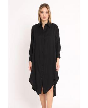 Camicia Lunga-Nero-Schwarz-Taglia Unica