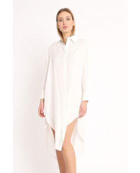 Camicia Lunga-Bianco-Weiss-Taglia Unica