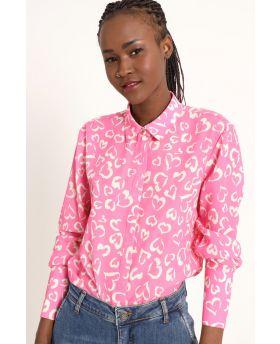 Bluse Cuoricini-Fuchsia-Pink-S-M