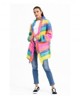 Cardigan Multicolor-Multicolor-Taglia Unica