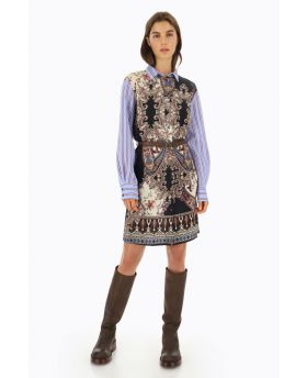 Kleid Stripes & Paisley-Fantasia-Gemustert-S