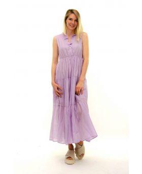 Langes Kleid Rouches