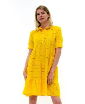 Kleid Sangallo mit Knopfleiste