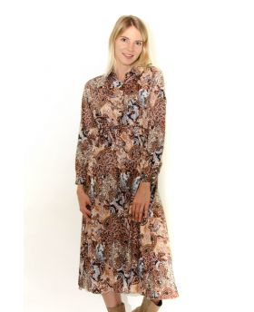 Kleid Paisley mit Bindegürtel