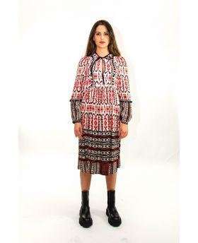 Kleid Ethno  Rosso