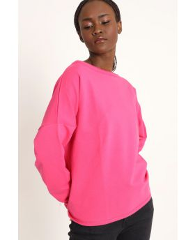 Sweatshirt Over-Fuchsia-Pink-Taglia Unica