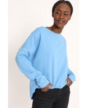 Sweatshirt Over-Celeste-Hellblau-Taglia Unica