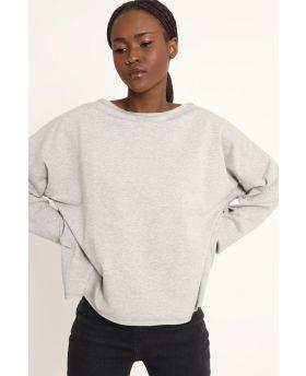 Sweatshirt Over-Grigio-Grau-Taglia Unica