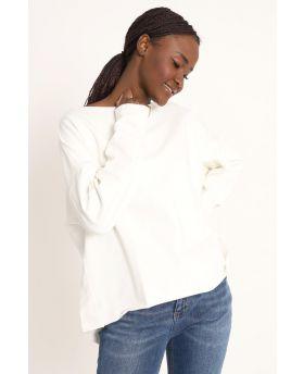 Sweatshirt Over-Bianco-Weiss-Taglia Unica