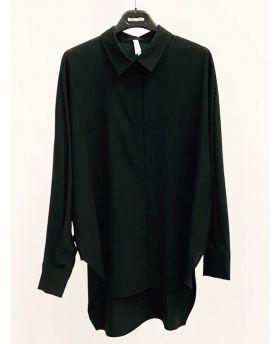 Bluse Oversized-Schwarz-S