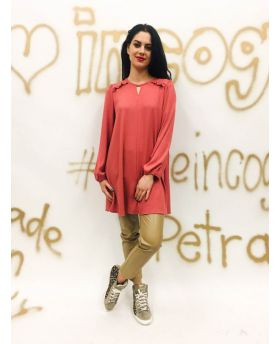 Kleid Rüschen-Fuchsia-Pink-S