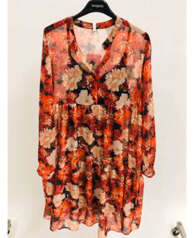 Kleid Flowers Oversize